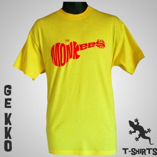 THE MONKEES RETRO T SHIRT CULT 1960S CLASSIC BAND NEW