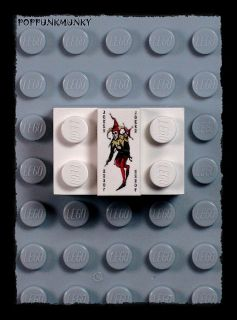 A159 NEW Lego Batman Custom JOKER CARD DECORATED TILE 1x2 From DARK