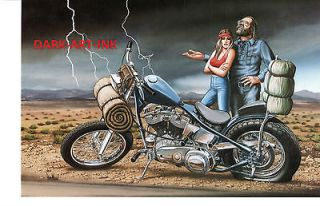 David Mann Art Middle of Nowhere Print Easyriders Harley Davidson In