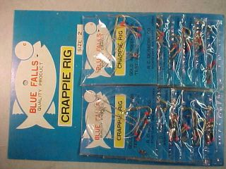 LOT OF 12 NEW CRAPPIE RIGS JIGS PANFISH AND BLUEGILL