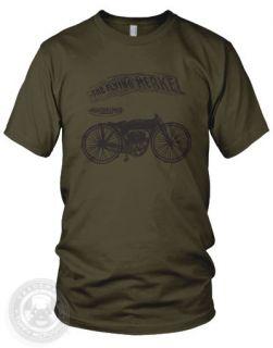 MERKEL   Vintage MOTORCYCLE motor bike American Apparel 2001 T Shirt