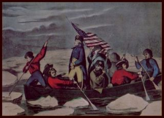 Currier & Ives Washington Crossing the Delaware, 1776
