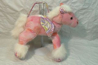 Dan Dee Collectors Choice Pink Winged Horse Purse Plush Sparkly Lights