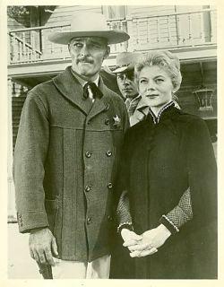 JOHN RUSSELL PETER BROWN PEGGIE CASTLE LAWMAN ORIGINAL 1961 ABC TV