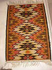 MEXICAN INDIAN SOUTHWEST NAVAJO AZTEC STYLE THROW RUG 36 1/2 X 24