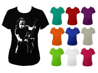 Womens Dave Grohl T shirt Foo Fighters UK 6 18