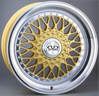 GOLF MK4 1997 2004 MODELS DVD TX09 GOLD DEEP DISH ALLOY WHEELS 5x100