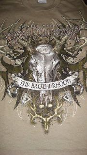 Brotherhood Tshirt Deer Skulls hunting archery Michael Waddell ne
