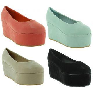 Ladies Ballet High Loafers Ballerinas Flat Platform Shoes Sizes UK 3 4