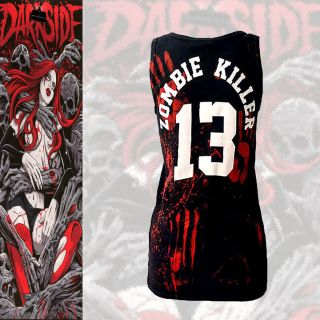 Zombie Killer 13 Ladies Beater Vest The Walking Dead inspired