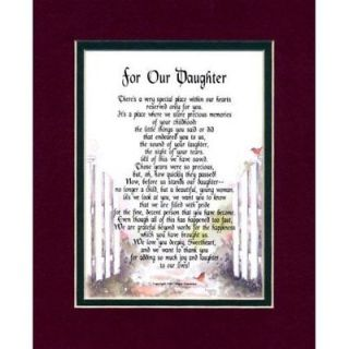 FOR OUR DAUGHTER #104 DAUGHTERS BIRTHDAY GIFT 18th 21st