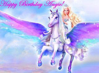 BARBIE Edible Cake Image Decoration Topper CUSTOM Birthday Party favor