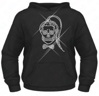 Ladies Diamante / Rhinestone Lady Gaga Born This Way Skull hoodie XS