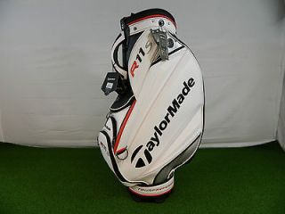 NEW 2012 TAYLORMADE R11 S TMX STAFF GOLF BAG WHITE BLACK RED FULL SIZE