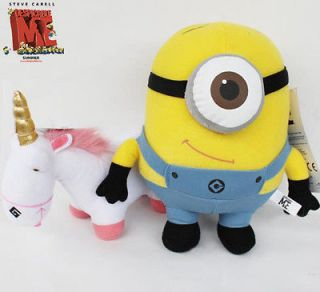 Despicable Me Minions Stewart and Unicorn 2X Plush Toy Stuffed Animal