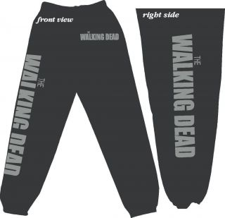 The WALKING DEAD   Zombie   Sweatpants   Adult 2x and 3x Fleece Pants