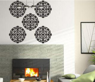 ROYAL DAMASK Wall Decorative Stickers Vinyl Art Decals