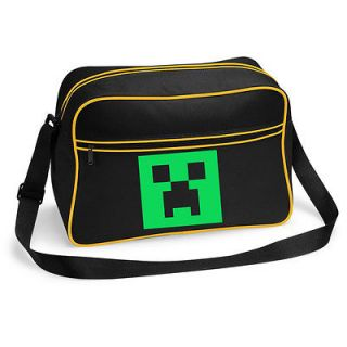 BNWT MINECRAFT CREEPER GAMING XBOX FLIGHT MESSENGER SHOULDER BAG
