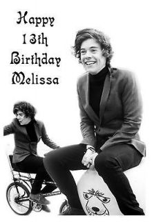 Personalised A5 Harry Styles Birthday Card Any Age Relation One
