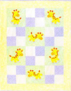 Jolly Giraffes   cute applique & pieced quilt PATTERN for kids