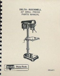 ROCKWELL DELTA 20 Drill Press Operators Parts Manual 0641