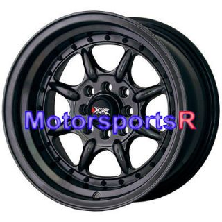 002 Chromium Black Wheels Rims Deep Dish Step Lip 4x100 Stance Miata