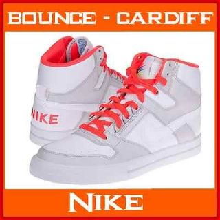 Mens Nike Air Delta Force High AC White/Solar Red Fashion Trainers