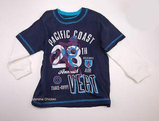 New Boy Size 3T Tee Dirt Trail Bike Bicycle Racing T shirt Navy Blue
