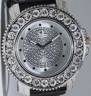 MENS ICED OUT HIP HOP BIG DIAMONDS 50 CENTS TECHNO ICE KING BLING