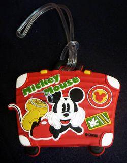 Disney Mickey Mouse Luggage Bag TAG Travel Name holder school trip
