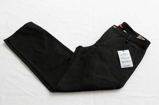 DOCKERS Mens BLACK ALPHA KHAKI SLIM FLAT FRONT 5 POCKET PANTS NWT 34 x