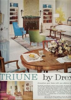 1966 DREXEL DINING ROOM FURNITURE Vintage Print Ad