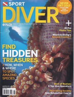 DIVER MAGAZINE HIDDEN TREASURES BOATAN TOP DIVE OPERATORS REBREATHER