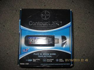 Bayer Contour USB Blood Glucose Monitor Kit Glucometer Meter 7393A exp