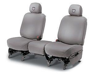 Dodge Ram truck front seat covers cover mist grey 06 08 OEM Mopar