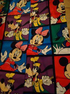 Pair Vintage Disney Mickey Minnie Mouse Goofy Curtains 1 Valance 1