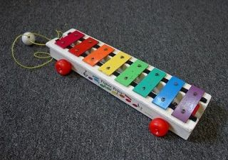 FISHER PRICE XYLOPHONE PULL TOY 1964 1978 #870 MUSICAL MUSIC PRE
