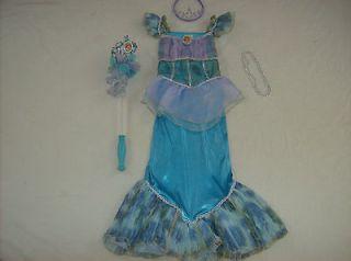 Disney Princess Little Mermaid Ariel Costume girl dress up L 10 11 12