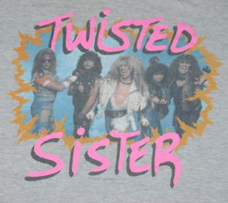 VTG TWISTED SISTER OUT COME AND PLAY TOUR SHIRT 1986 XL