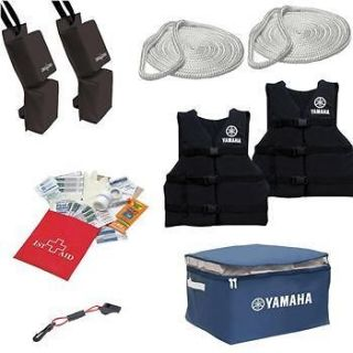 JET SKI STARTER KIT LIFE VESTS FIRST AID KIT DOCK ROPE + MORE