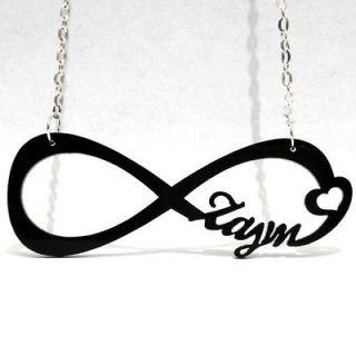 DIRECTIONER NECKLACE ONE DIRECTION ZAYN PENDANT INFINITE SYMBOL collar