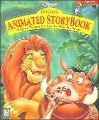 Disneys The Lion King Animated StoryBook PC MAC CD ROM movie based