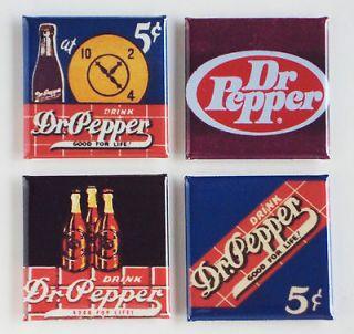 Dr. Pepper FRIDGE MAGNET Set sign cola matchbook doctor dr label