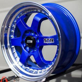 510 5x100 BLUE WHEEL FIT SCION FR S TC VW GTI VR6 GOLF NEON SRT JETTA