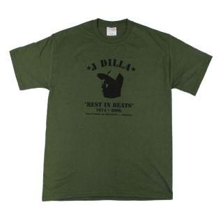DILLA REST IN BEATS T Shirt L (Olive)