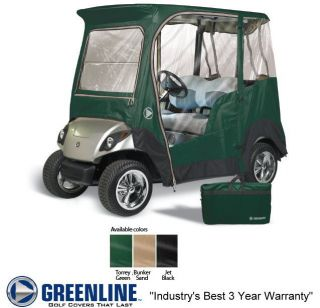 Drivable 2 Person Golf Cart Enclosure Cover for Yamaha Drive   Black