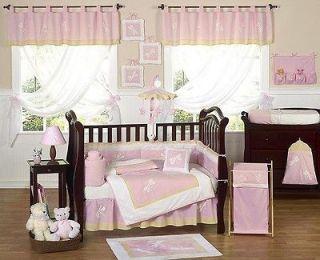 JOJO DESIGNS CHEAP PINK DRAGONFLY 9pc BABY GIRL CRIB BEDDING SET ROOM