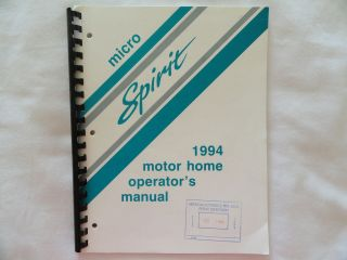 1994 Winnebago Micro Spirit Motor Home Owners Manual