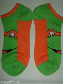 Teenage Mutant Ninja Turtles Tmnt Michelangelo Womens Ankle Socks