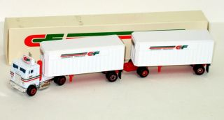 HO 1:87 Freightliner COE CF Consolidated Freightways NIB 1983 Doubles